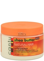 Cantu Shea Butter Natural Hair Coconut Curling Cream will define, condition and add manageability to your curls, leaving them soft, shiny and deeply moisturized. Made with 100% Pure Shea Butte