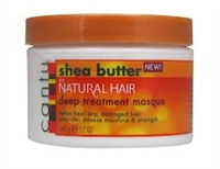 Cantu Deep Treatment Masque helps heal dry, damaged hair while it provides intense moisture and strength.