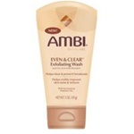 Ambi Even & Clear Exfolicating Wash 5oz