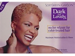 Dark and Lovely NO-LYE Relaxer for Color-Treated Hair Kit
