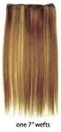 European Silky Straight Clip On Hair - 1 piece package (7 inch wefts) - 100% Human Hair - 12 Inch