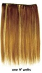 European Silky Straight Clip On Hair - 1 piece package (9 inch wefts) - 100% Human Hair - 12 Inch Length