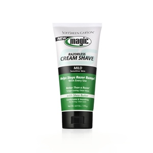 Magic Razorless Cream Shave Beard Remover Mild- 6oz tube
