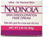 Nadinola Skin Discoloration Fade Cream Ultra For Normal Skin Net Wt. 2.25 Oz. (64 g)