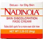 Nadinola Skin Discoloration Fade Cream Deluxe For Oily Skin Net Wt. 2.25 Oz. (64 g)