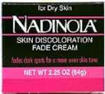 Nadinola Skin Discoloration Fade Cream For Dry Skin Net Wt. 2.25 Oz. (64 g)