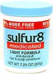 Sulfur 8 Medicated Light Formula Anti-Dandruff Hair & Scalp Conditioner Bonus Size Net Wt. 7.25 Oz. (205 g)